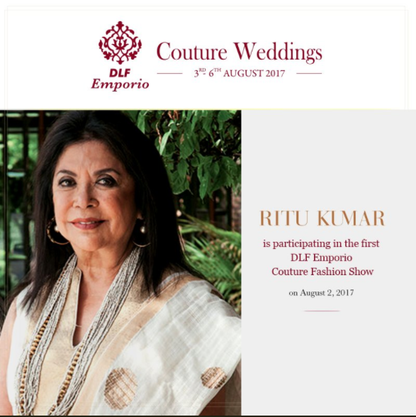 Ritu Kumar the ace designer talks about youth's knowledge in fabric