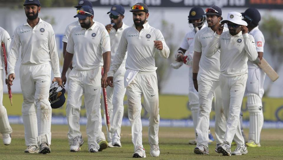 Sri Lanka struggle to 50-2 after India post 622-9 dec