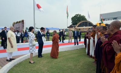 Modi, Shinzo Abe visit Sabarmati Ashram