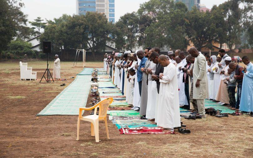 Muslims praying during the Eid al-Adha celebration at Kenya