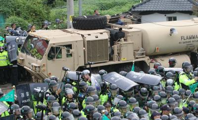 Many injured in THAAD deployment protest in S. Korea