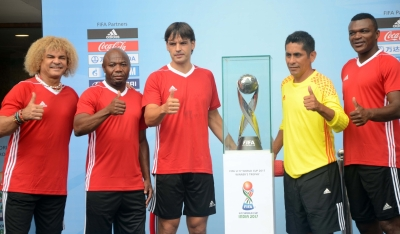 FIFA legends play exhibition game, U-17 World Cup Trophy unveiled