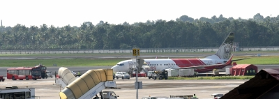 Abu Dhabi-Kochi flight runs into drainage pit, none injured