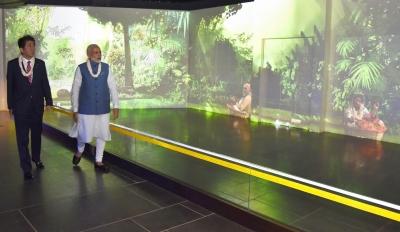 Modi, Abe visit museum dedicated to Mahatma Gandhi