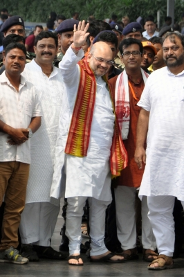 'Mission 350' a media term, BJP wants to take every booth: Amit Shah