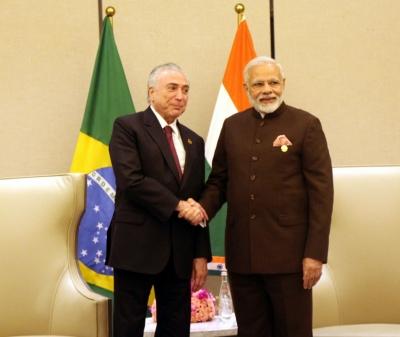 Modi meets Brazilian President in China