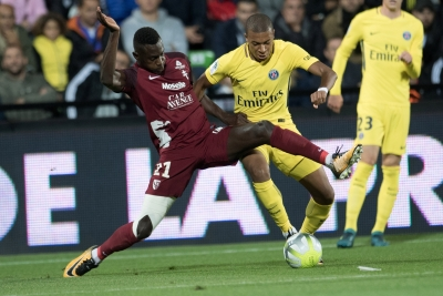 Mbappe scores on debut as PSG rout Metz in Ligue 1