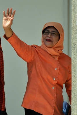 Singapore gets its first woman President