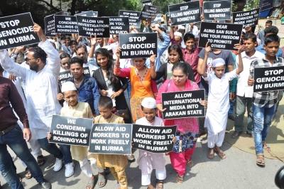 Pro-Rohingya protest held at Jantar Mantar