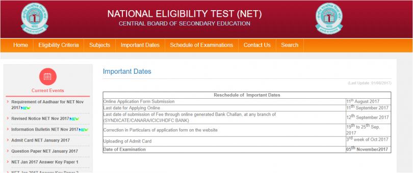 CBSE UGC NET 2017 last date of online registration at cbsenet.nic.in is here