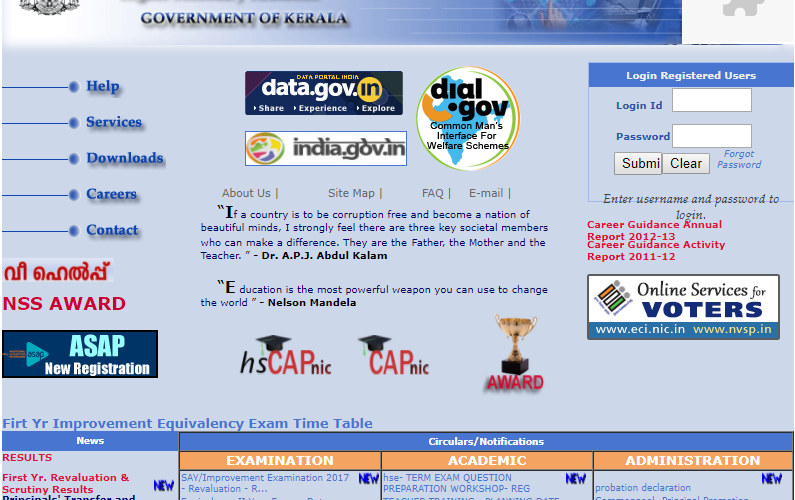 DHSE Kerala result 2017 for supplementary/improvement exam to be declared today at dhsekerala.gov.in