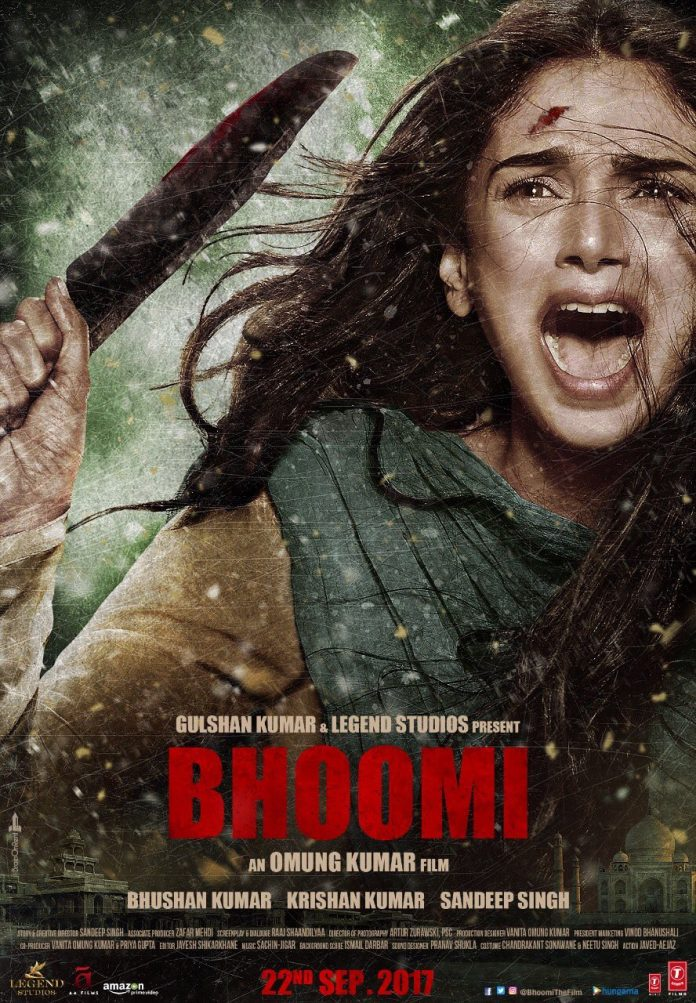 Bhoomi movie poster releasedBhoomi movie poster released