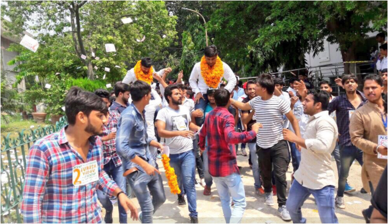 DUSU election 2017 results: NSUI wins President and Vice president posts while ABVP racked joint secretary post