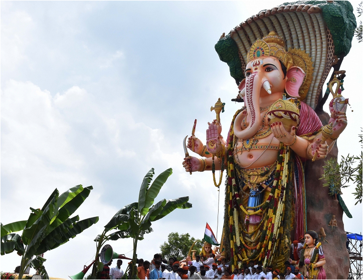Ganesh Visarjan Khairtabad in hyderabad