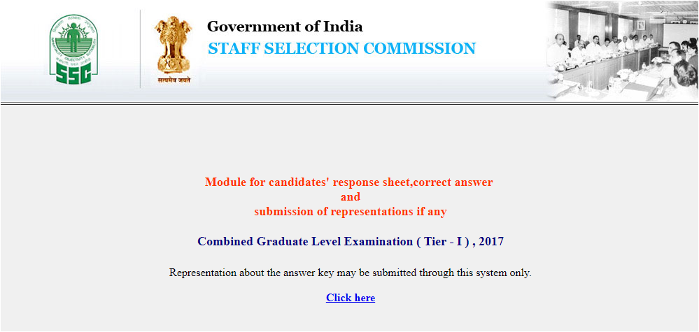 SSC CGL Answer key 2017 released at ssc.nic.in