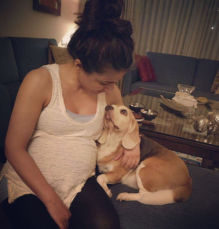 Pregnant Soha Ali Khan and her 'true love' share an adorable moment in this picture