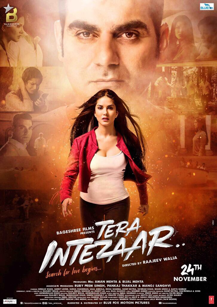 Tera Intezaar movie poster out starring Sunny Leone and Arbaaz Khan in the lead