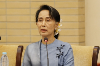 Suu Kyi says Myanmar working to protect Rohingyas