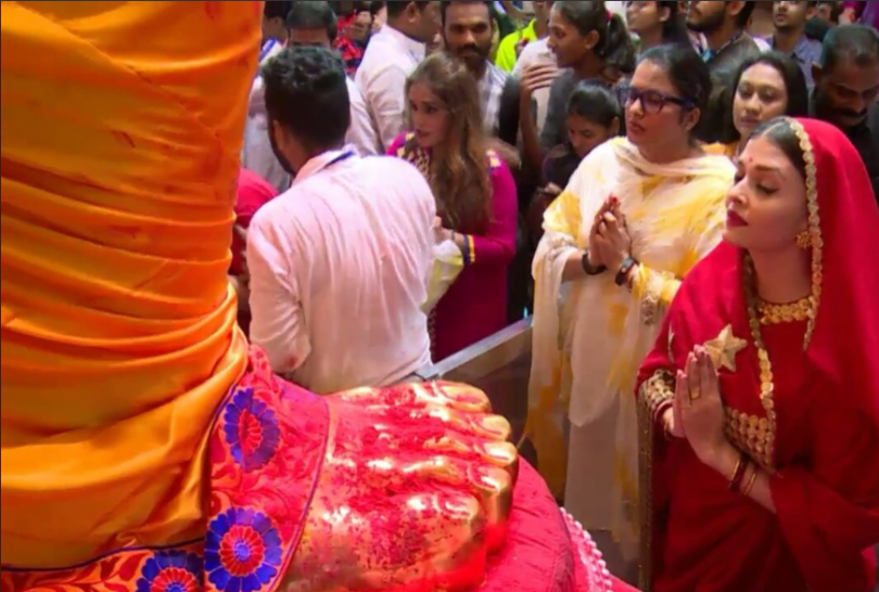 Aishwarya Rai Bachachan bids adieu to Ganesha idol on the occasion of Ganesh Chaturthi