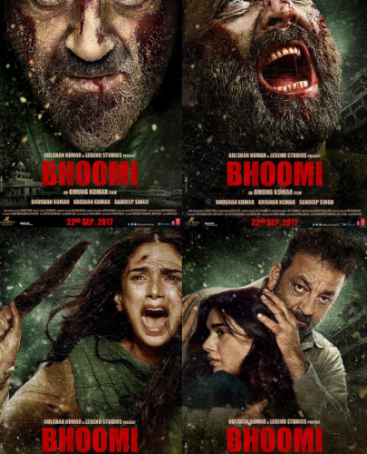 Bhoomi movie posters featuring Sanjay Dutt grabbed million eye-balls