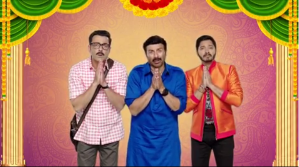 Poster Boys review : Sunny Deol, Bobby Deol and Shreyas Talpade promote 'Nasbandi' very well in the movie