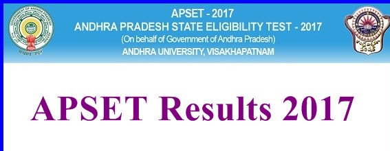 APSET results 2017 results declared on website www.apset.net.in