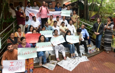 Hundreds protest Lankesh murder in Bengaluru