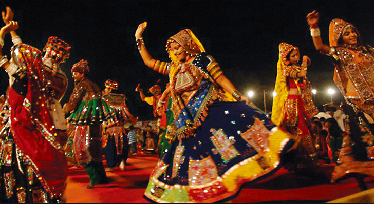 Navaratri Garba is celebrated in Gujarat with Garba foot-tapping songs