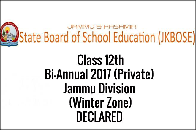 JKBSE results of 10th and 12th 2017 declared on jkbose.co.in