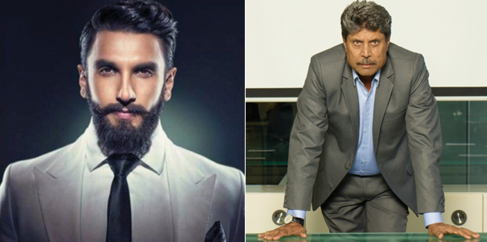 Ranveer singh all set to portray the character of Kapil Dev in his next
