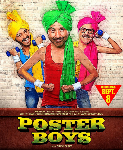 Poster Boys Bobby Deol, Sunny Deol and Shreyas Talpade behind the scene pictures of the movie