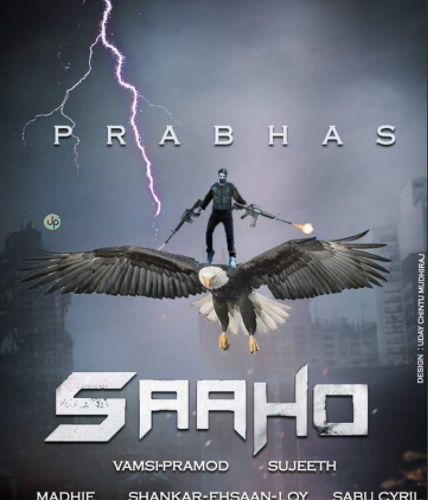 Saaho behind the scene images of: Prabhas and team working hard for the movie