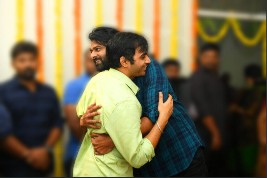 The main lead actor of the movie Prabhas hugs the director of the movie on the special day of Telugu new year. The director of the movie shared this picture on his Twitter and captioned it, ''A very special one on a Special day!!😍😍 నూతన సంవత్సర ఉగాది శుభాకాంక్షలు :) :)'' which means that they are exchanging new year greetings with each other