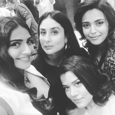 Veeray Di Wedding cast Kareena Kapoor and Sonam Kapoor bond well on the sets