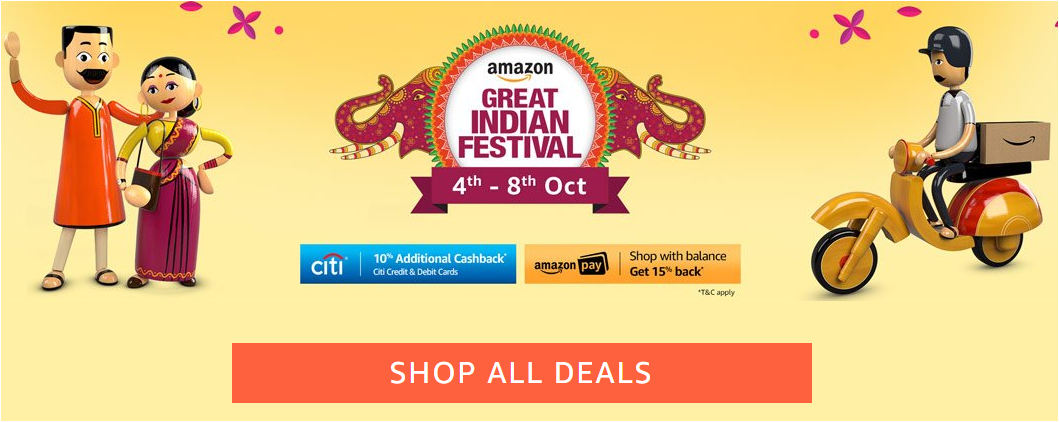 Amazon sale offers starts up to 40% discount on smartphones