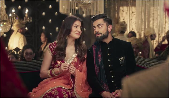 Anushka and Virat Manyavar ad