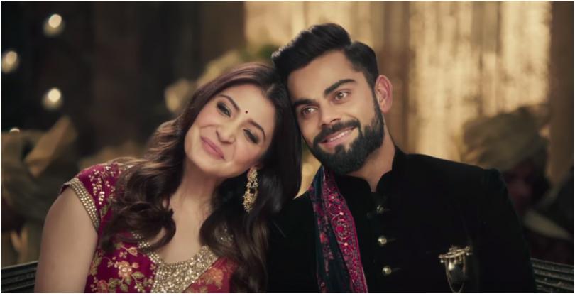 Virat Kohli and Anushka Sharma makes marriage promises with Manyavar Mohey ad; Watch video here