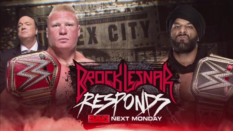 Jindar Mahal challenges Brock Lesnar for a champion vs champion match