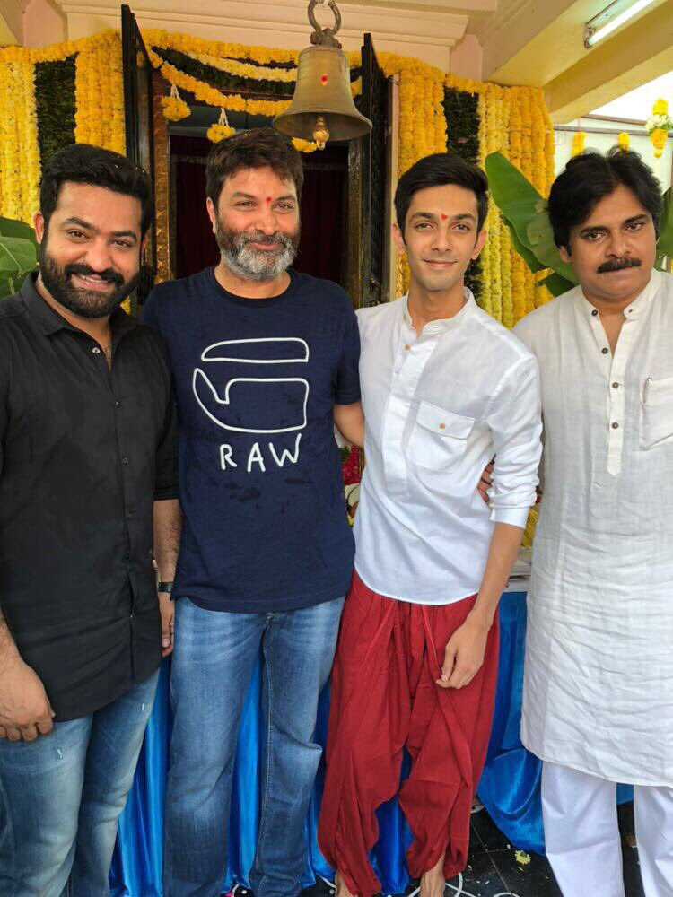 Pawan Kalyan launches Trivikram Srinivas' NTR28 which is set to begin shooting in 2018
