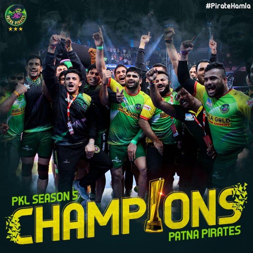 Pro Kabaddi League finale: Patna Pirates defeat Gujarat Fortunegiants