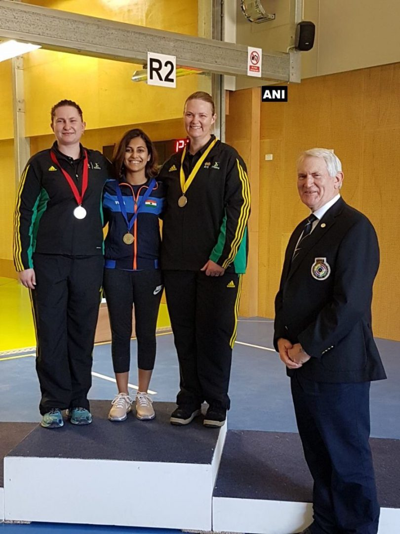 Heena Sindhu wins gold medal in Commonwealth Shooting championship