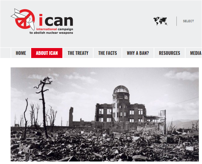 Noble Peace Prize 2017 awarded to ICAN to abolish nuclear weapons