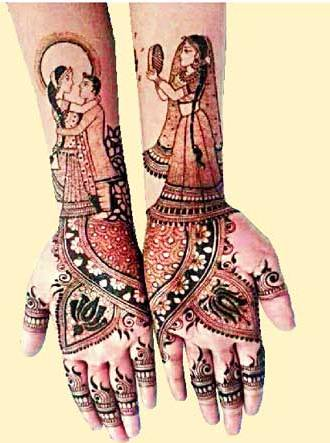 Karwa Chauth latest Mehndi Design photos for hands and foot