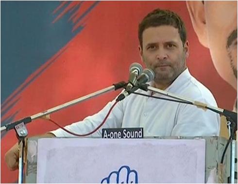 Congress VP Rahul Gandhi terms GST as Gabbar Singh Tax in Gandhinagar speech with Alpesh Thakor