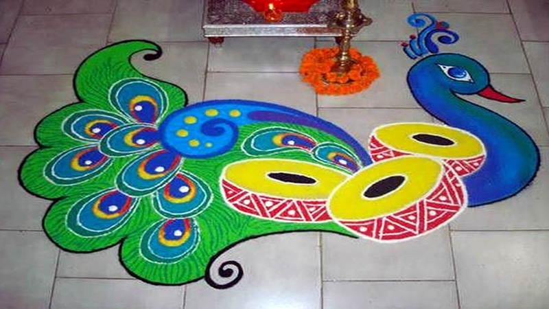 Simple and Latest Rangoli Designs for Diwali 2017