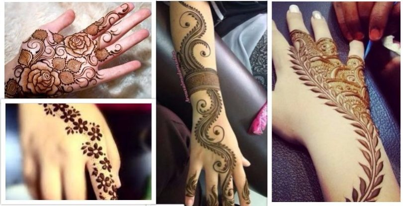 Floral and Leaves Mehndi Design