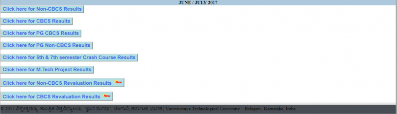 VTU results released: Reevaluation results can now be checked by the students