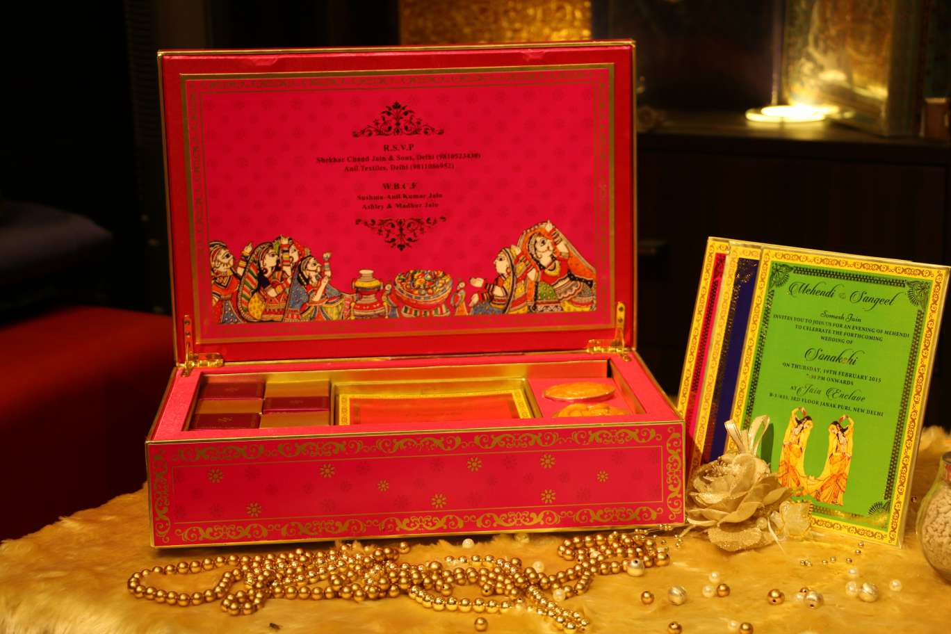 Latest Indian Wedding Cards Designs and shops in Delhi