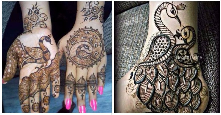 Peacock Design Mehndi : Peacock mehndi design is very attractive. Designer draw peacock in many different ways and which rise the beauty of mehndi designs.