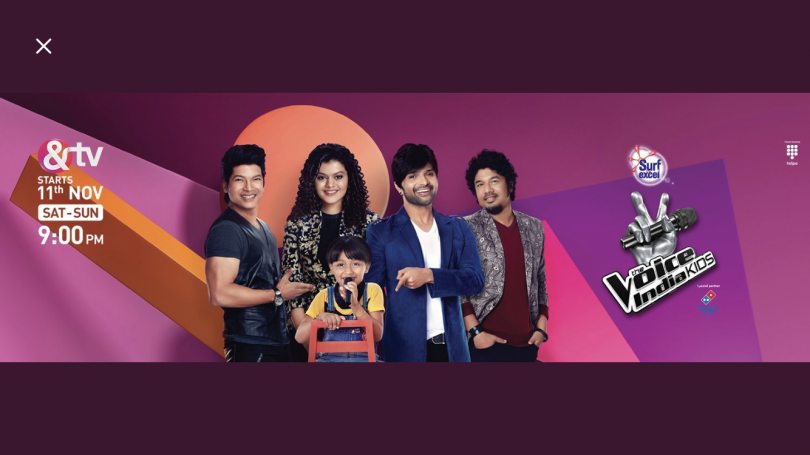 The Voice of India Kids to begin airing on television on 11 November 2017